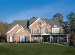 brick colonial house plans delightful two story home with opulent master suite