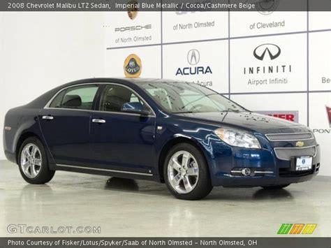 imperial blue metallic  chevrolet malibu ltz sedan