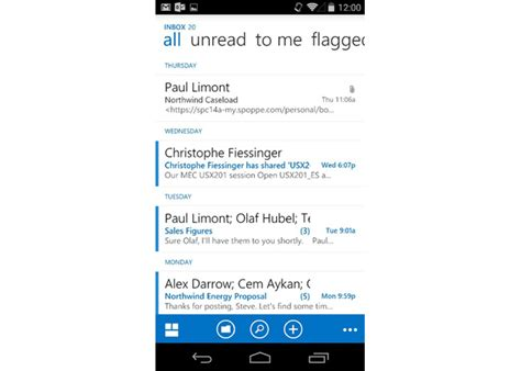outlook app for android outlook web app owa for android to arrive soon talkandroid