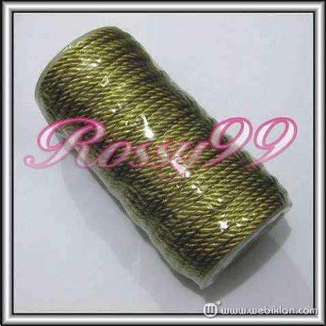Tali Kur Kerajinan Macrame Souvenir Aksesoris tali kur sumbu warna emas gold handycraft bahan konveksi