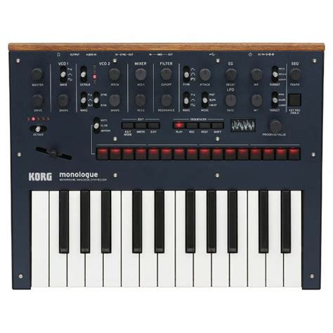 Keyboard Korg Juno korg korg monologue monophonic analogue synthesizer