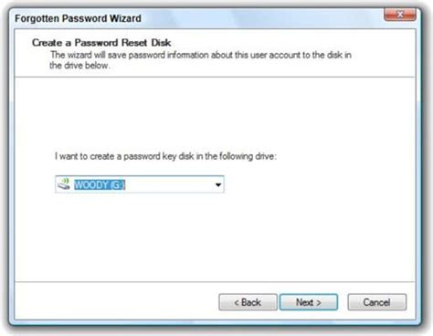 vista reset password disk hvordan lage en windows vista password reset disk
