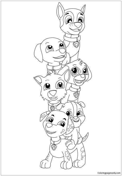 coloring page paw patrol cartoons 37 paw patrol coloring