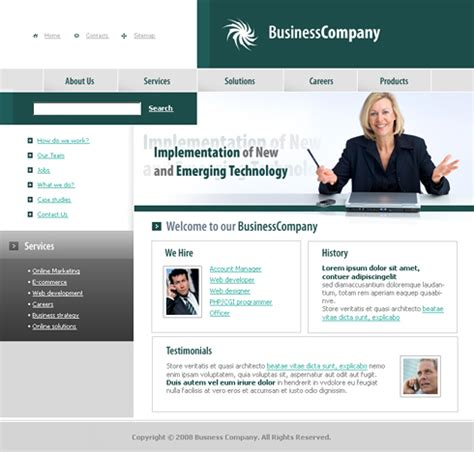 templates for corporate website business company web template 3221 clean corporate