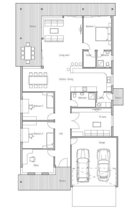 Narrow Lot Modern House Plans by Modern Narrow Lot House Plans