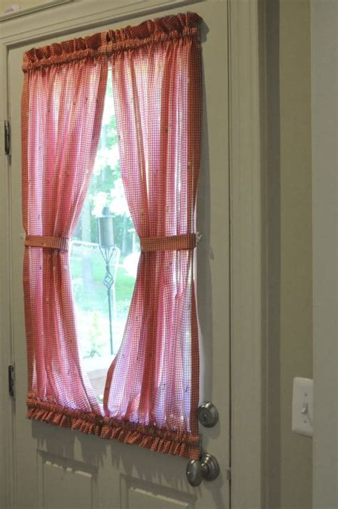 how to make a door curtain this might be a nice way to do curtains for our back door