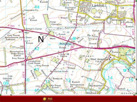 stonehenge map stonehenge