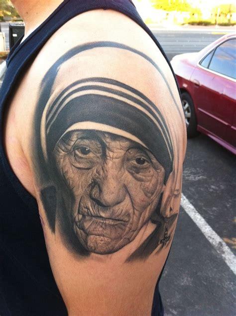 mother teresa tattoo robert pho erics teresa portrait tattoos