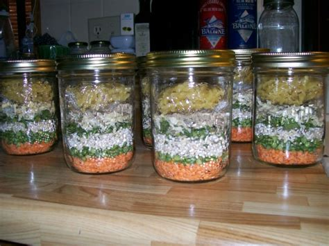 christmas soup in a jar minestrone soup gift mix in a jar recipe food