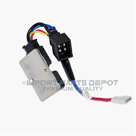 how to test ac blower motor resistor mercedes ac blower motor regulator resistor import parts depot premium quality 1408351