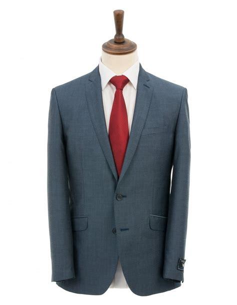 contemporary suits denim blue mohair contemporary fit suit