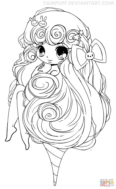 chibi coloring pages chibi cotton coloring page free printable