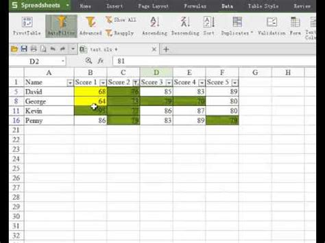 how to filter by color in excel filter by cell color in free excel 2013