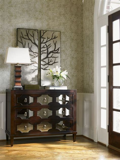 Foyer Accent Pieces Kensington Place Winslow Mirrored Chest