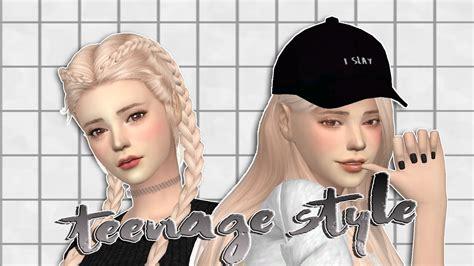 Korea Cc the sims 4 cas mini lookbook style w cc mods