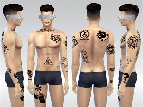 yakuza tattoo sims 4 mclaynesims newport boy tattoo