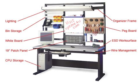 tech work bench esd protected workstation for assembly and repair of