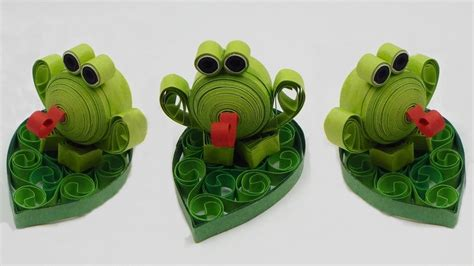 How To Make A 3d Frog Out Of Paper - how to make a 3d quilling frog quilling animal diy