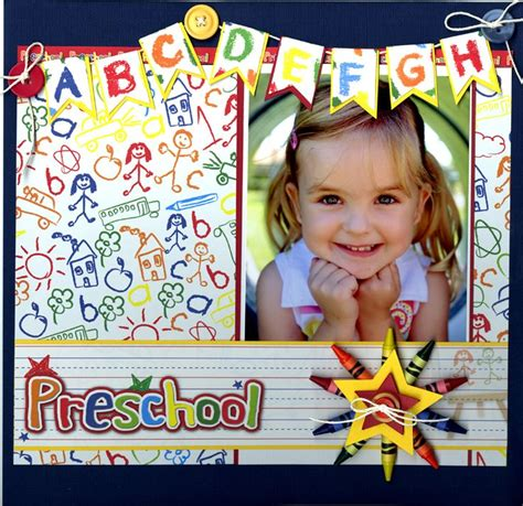 scrapping with ada colorful reminisce making the grade quot preschool quot layout