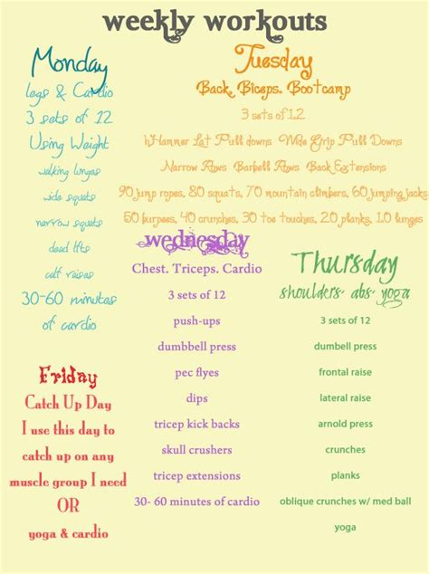 best 25 women s workout plans ideas on pinterest sport collection weekly workout routine for women photos