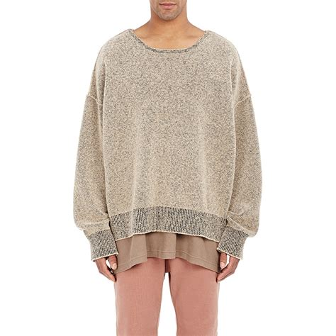 Sweater Yeezy Yeezy Boucle Boxy Sweater In Brown Lyst