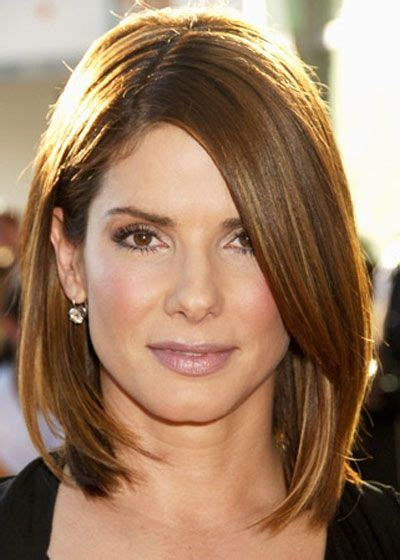 mid length hair cuts longer in front shoulder length asymmetrical long layered bob with tan