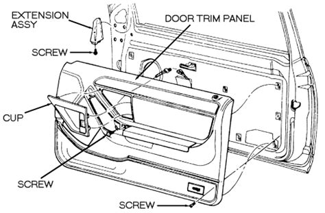 service manual how to remove door trimford 1993 where is the neutral safety switch located on a 1999 mercure fixya