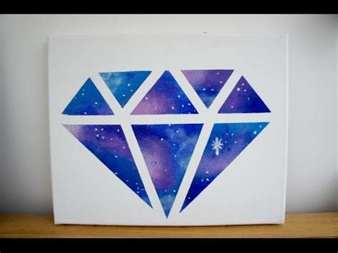how to paint a diamond pattern on your wall maison d or diy room decor galaxy diamond painting youtube