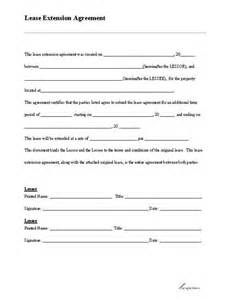 Lease Letter Housekeeping Lease Extension Form Extensions