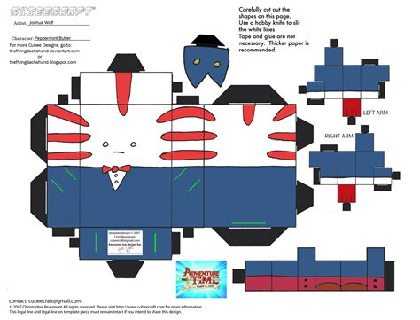 Papercraft Expo - ce4 peppermint butler cubee by theflyingdachshund on
