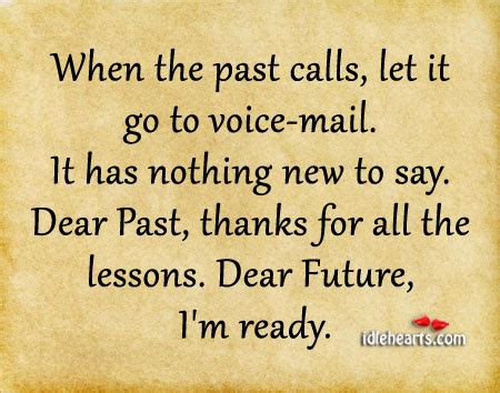 when the past calls let it go to voice mail