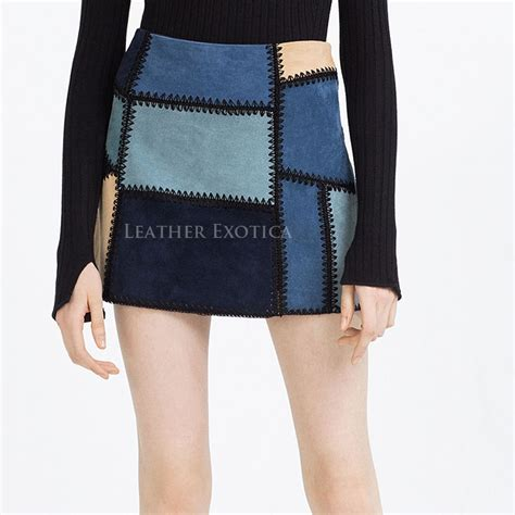 patchwork mini suede leather skirt for patchwork mini suede leather skirt for