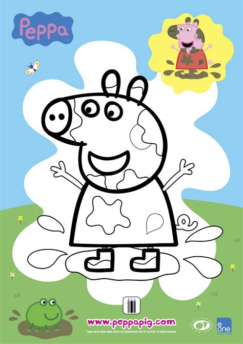 peppa pig muddy puddles coloring pages free coloring pages