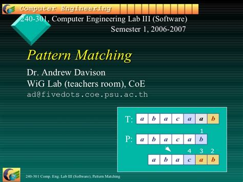 pattern matching for email pattern matching