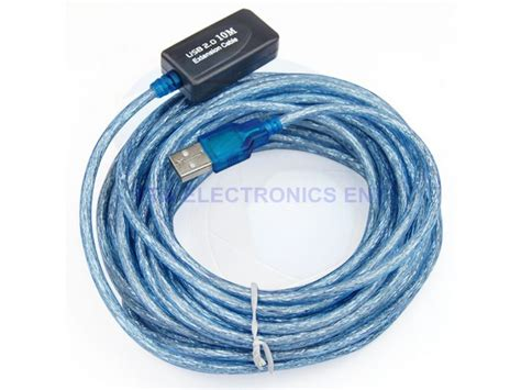 Usb 20 Extension 10m With Repeater Ztek Active Usb 2 0 Active Extension Repeater Cable With Sugnal