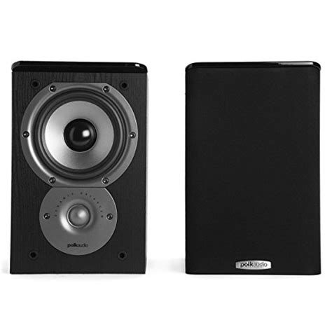polk audio tsi100 bookshelf speakers pair black