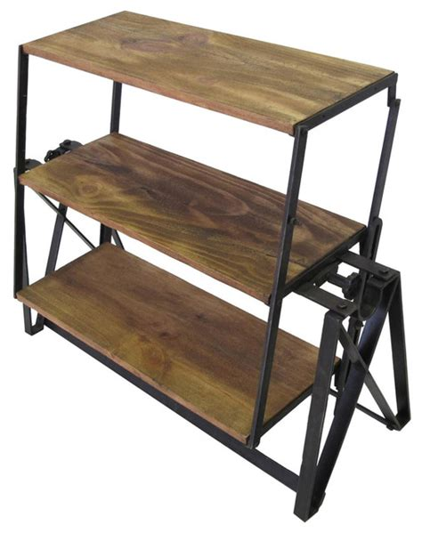 swing table swing industrial shelf table rustic dining tables by