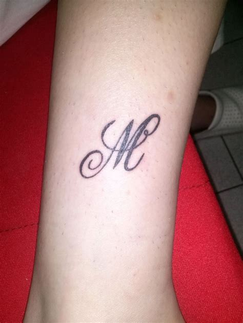 letter m tattoo slovo m tetovaza my tattoo art