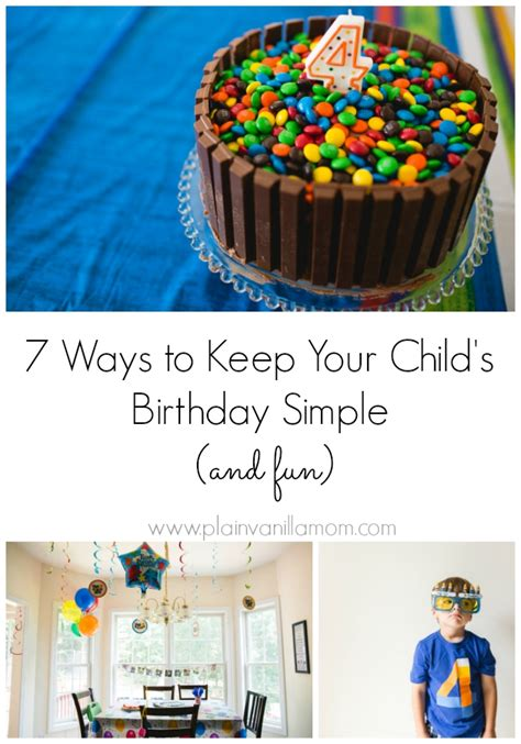 7 Ways To Keep Track Of Your Child by 7 Ways To Keep Your Child S Birthday Simple Plain