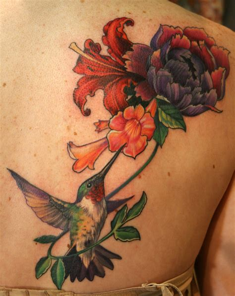 hummingbird with flower tattoo designs for me ns for 8 hummingbird