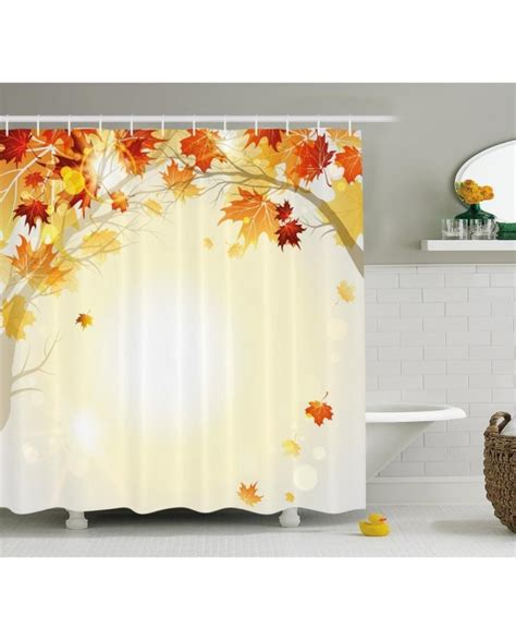 decor shower curtains fall decor shower curtain autumn leaves tree print for