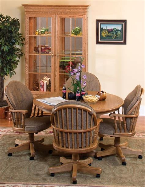 dining room swivel chairs amish heritage swivel dining room chair or office chair