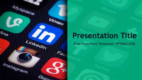 Free Social Media Powerpoint Template Pptmag Media Ppt Templates Free