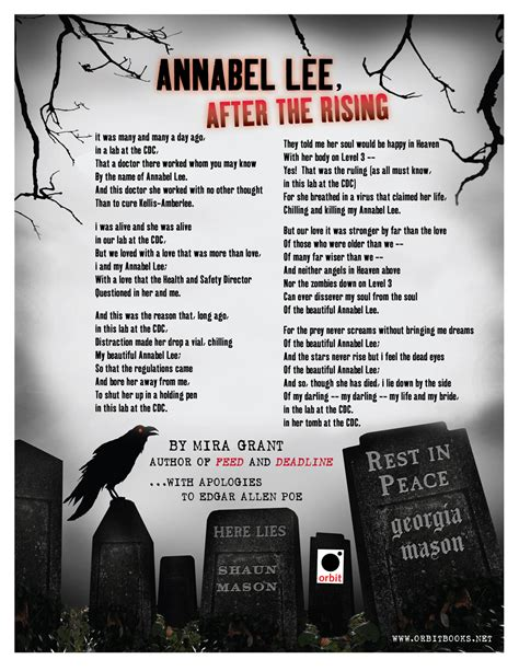 printable version of annabel lee annabel lee after the rising by mira grant orbit books