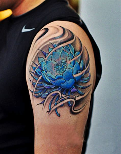 blue lotus flower tattoo 155 lotus flower designs