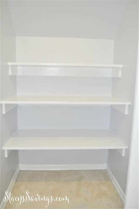 how to build shelves in a closet best 25 diy closet shelves ideas on closet