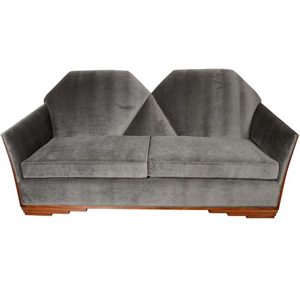 art deco style sofa cubist art deco skyscraper style sofa in luxurious grey