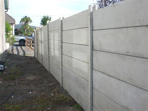 Decorative Privacy Fences by Concrete Panel Fence Cooganfencing Ie