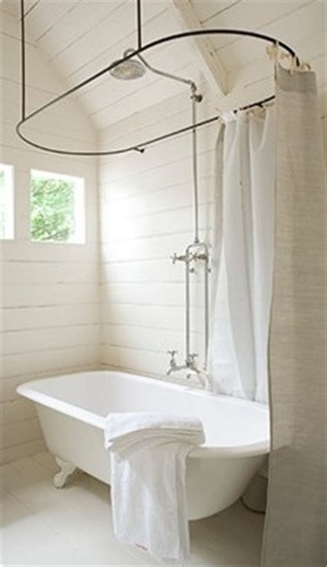 shower rail for roll top bath roll top shower curtain bathroom ideas