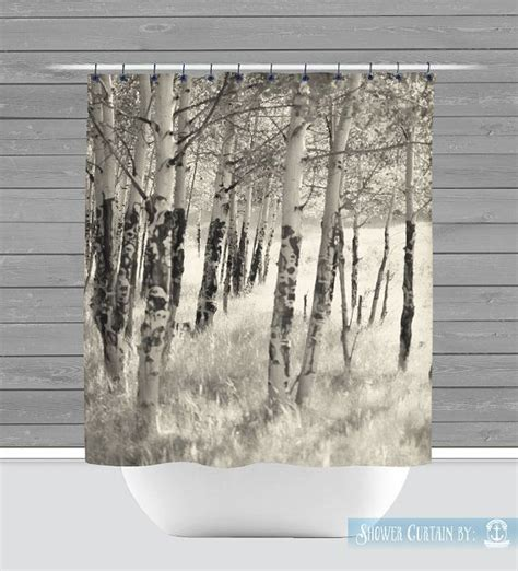 curtains made in the usa birch trees shower curtain rustic nature americana made